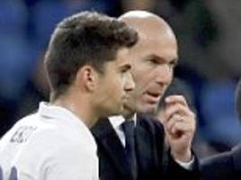 Real Madrid boss Zinedine Zidane says he is happy for son Enzo scoring on his debut