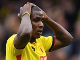 watford boss walter mazzarri insists he 'trusts' odion ighalo despite his recent poor run of goalscoring form