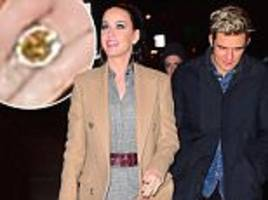 Katy Perry steps out with Orlando Bloom wearing huge diamond ring on her ring figner