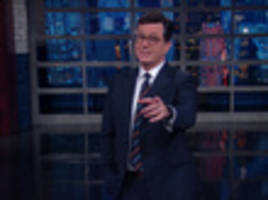 video: stephen colbert impressed with mitt romney's shameless sucking up to trump