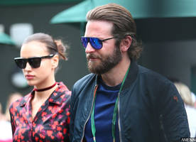 Irina Shayk Is Pregnant With Bradley Cooper's Child, Debuts Bump at VS Show
