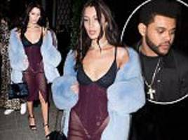 Bella Hadid parties with ex The Weeknd in Paris after the Victoria's Secret Fashion Show