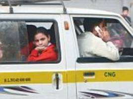 Not so SMART phone: Delhi bus drivers continue to talk and text on their mobiles while driving young children to school