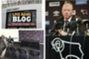derby county pre-match press conference - live updates