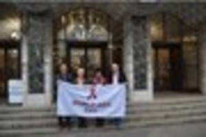 plymouth council flies world aids day flag for the first time...