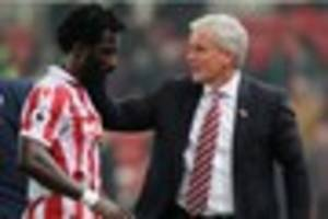 wilfried bony could be saddled up as stoke city boss goes horses...