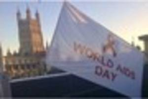 Gloucester flies the flag for World AIDS Day