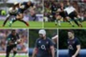 bath quintet retained by england for australia - but rocco and...