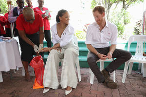 Prince Harry meets Rihanna at Caribbean during Barbados' 50th Independence Day rites