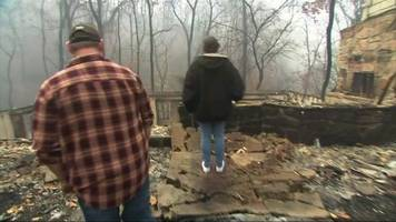 Tennessee wildfires: Couple return to find remains of their home