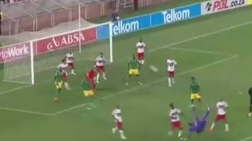Watch: South African goalkeeper scores 96th-minute overhead kick