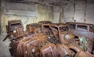 Abandoned French Cars Found in a Mine, Could Have Been Hidden during World War II