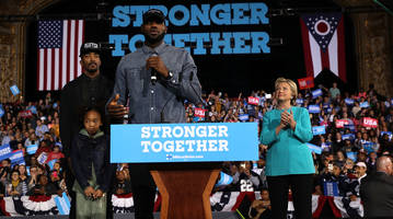 When Hillary Clinton met J.R. Smith, she made a joke about his shirt