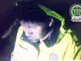 colombian plane crash survivor cal out into the darkness for his work colleagues