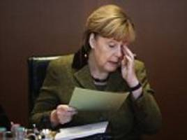 German father-of-four berates Merkel at 'virtual town hall meeting' over her open-doors immigration policy saying he is afraid 'for the first time in his life'