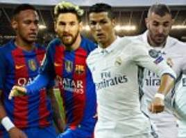 Barcelona vs Real Madrid is a clash between the two best sides in the world… but whose players come out on top in Sportsmail's ultimate head-to-head?