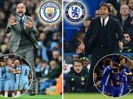 pep guardiola and antonio conte go head-to-head for the first time as manchester city play chelsea in premier league showdown... but how do the two managers compare?