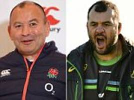 The gloves are off ahead of England against Australia as Eddie Jones and Michael Cheika exchange in personal pre-match sledging before vital clash