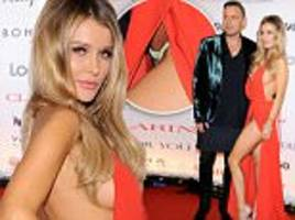 joanna krupa flashes her panties in revealing gown at poland charity gala