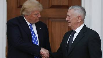 Trump appoints Gen 'Mad Dog' Mattis as US defence secretary