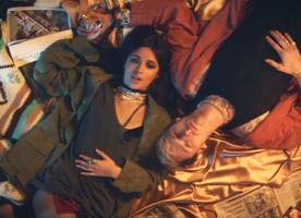 watch camila cabello and mgk as modern bonnie and clyde in 'bad things' video