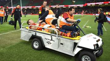 dan lydiate: wales flanker out with knee ligament damage