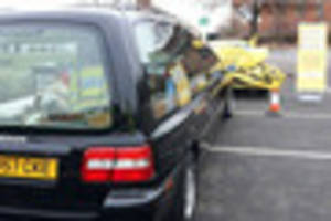 A hearse and a smashed-up car: police launch drink driving...