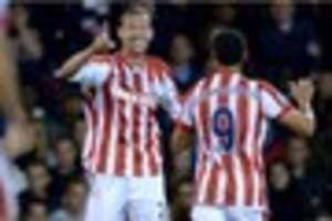 stoke city v burnley: crouchy rides shotgun to leave dyche hoarse