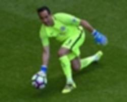 guardiola defends bravo: 'in england he doesn't get fouls'