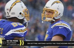 Philip Rivers on Antonio Gates' career and the touchdown record