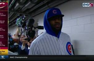 LeBron James rocks Cubs uni to honor World Series bet with Dwyane Wade