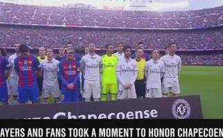 teams held moment of silence for chapecoense