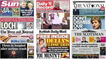 scotland's papers: obesity warning and 'loch mess monsters'
