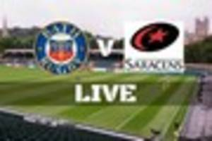 bath rugby v saracens live from the rec in the aviva premiership