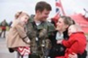 red arrows arrive home after world tour - pictures