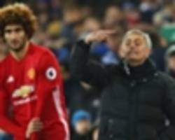 Mourinho blames ugly Everton football for Fellaini howler