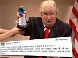 Donald Trump lets rip at SNL again after the show ridicules his Twitter habits