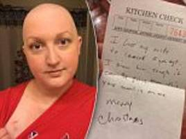 Mother with breast cancer says thank you to stranger who bought her dinner