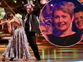 yvette cooper says ed balls's strictly stint is reminiscent of a man in a midlife crisis