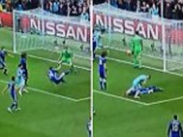 Sergio Aguero appears to taunt Gary Cahill after own goal in Chelsea's win over Manchester City