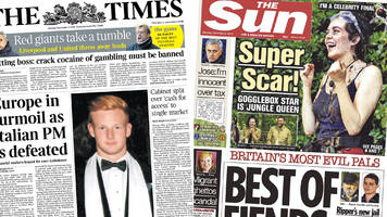 newspaper review: 'turmoil' in europe and queen scarlett