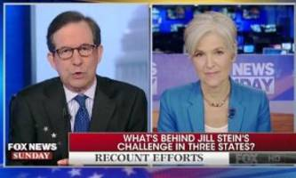 'there's not a chance in the world': chris wallace battles jill stein over recount changing results