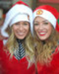 snapped: stunning man united wag trio dress up for charity run at old trafford
