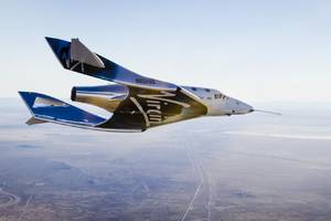 virgin galactic's second spaceshiptwo performed its first glide flight