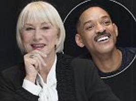 helen mirren and will smith pose for collateral beauty photocall