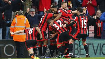 bournemouth fight back to earn dramatic first win over liverpool