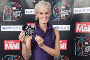 judy murray picks up top prize for new dad andy at sunday mail sport awards