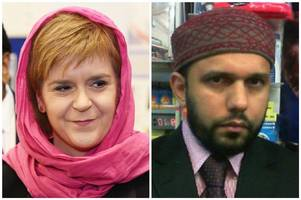 Nicola Sturgeon calls for tolerance during visit to mosque of murdered shopkeeper Asad Shah