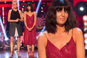 Strictly Come Dancing's Claudia Winkleman turns heads in sexy thigh-high split dress and red stilettos