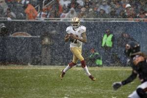 colin kaepernick benched in bears blowout